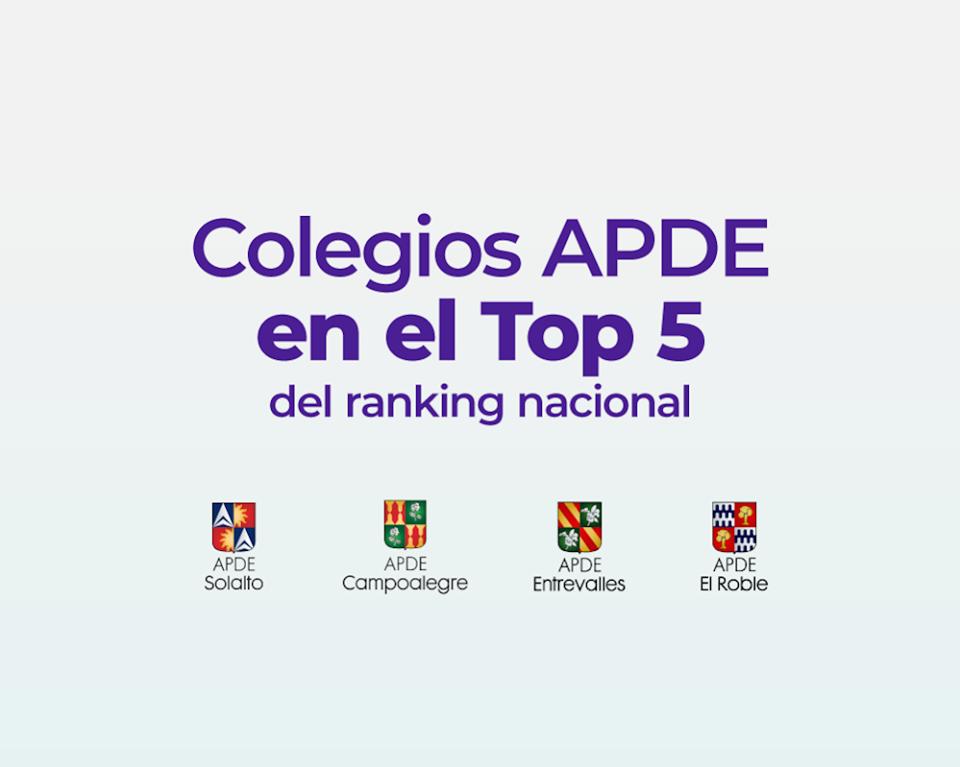 Colegios APDE entre los mejores colegios de Guatemala